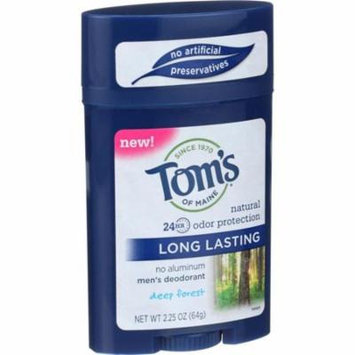 Toms of Maine HG1539444 2.25 oz Deodorant Mens Long Lasting Stick, Deep Forest - Case of 6