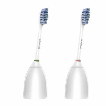 Sonimart Sensitive Replacement Toothbrush Heads for Philips Sonicare e-Series HX7052, 2 pack, fits Essence, Advance, CleanCare, Elite, and Xtreme