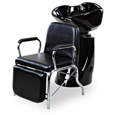 """Liger"" Black Reclining Salon Shampoo Chair Backwash Package"