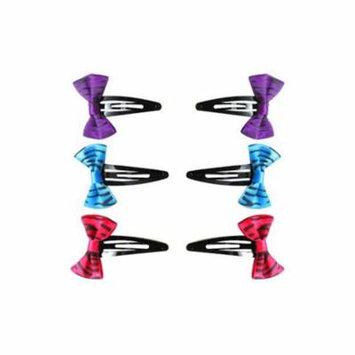 Zebra Stripes Hair Bow Clips / Favors (6ct)