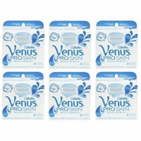 Gillette Venus Pro Skin Refill Razor Blade Cartridges, 24 Count (6 Packs of 4) + Old Spice Deadlock Spiking Glue, Travel Size, .84 Oz
