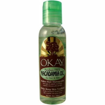 6 Pack - Okay Macadamia Oil for Hair & Skin, 2 oz