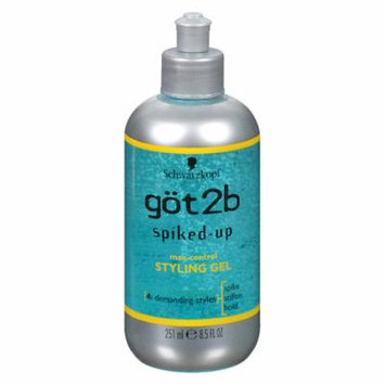 Got2b Spiked-Up Max-Control Styling Gel 8.5 fl oz(pack of 4)