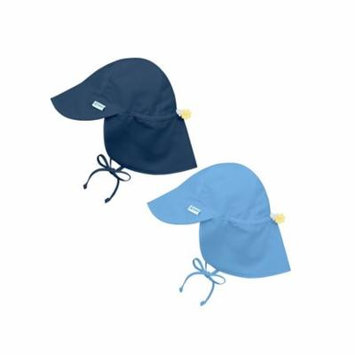 i play Baby and Toddler Flap Sun Protection Hat-Navy and Lt. Blue - 2 Pack