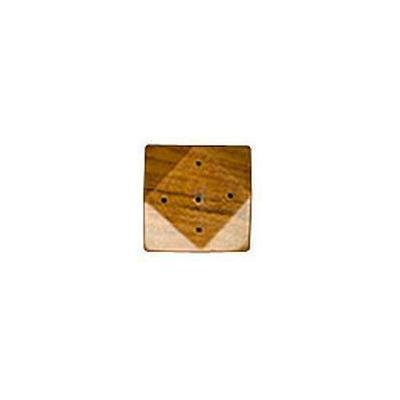 Lotus Brands - Cottage Incense Burners, Diamond Shaped Small Teak, 1 ea