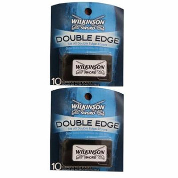 Wilkinson Sword Double Edge Razor Blades, 10 ct. (Pack of 2) + Scunci Black Roller Pins, 18 Pcs