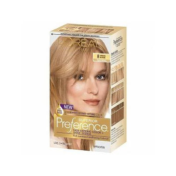 L'Oreal Paris Superior Preference Permanent Hair Color, Medium Blonde 8 1.0 ea(pack of 2)