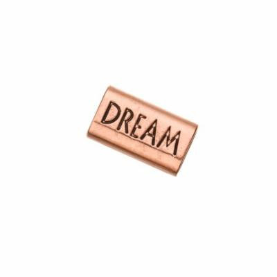 Dream Word Licorice Focal Fits 10x8mm Licorice Leather - Antique-Copper Plated
