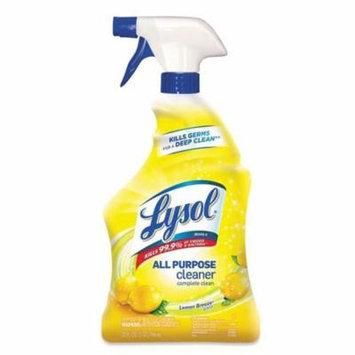 Reckitt Benckiser 19200-75352 CPC 32 oz Lysol II All Purpose Cleaner Complete Clean, Lemon - Case of 12