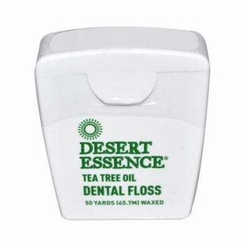 Desert Essence Dental Floss Tea Tree Oil - 50 Yds - Pack of 6