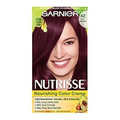 Garnier Nutrisse Permanent Haircolor, Deep Burgundy 42 (Black Cherry) 1.0 ea(pack of 2)