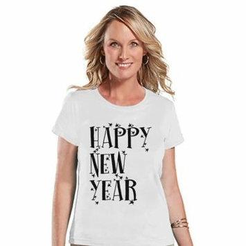 7 at 9 Apparel Women's Happy New Year's T-shirt - Medium