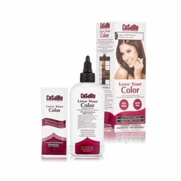 CoSaMo - Love Your Color Non-Permanent Hair Color 776 Light Golden Brown - 3 oz. + Beyond BodiHeat Patch, 1 Ct