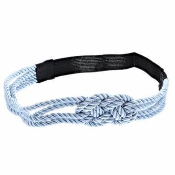 Making Waves Women's Nautical Rope Sailor's Knot Headband, Light Blue