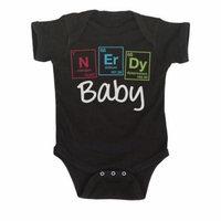 Nerdy Baby Element Funny Nerd Science Humor-Baby One Piece