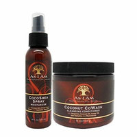 As I Am Coco Shea Spray 4oz & Coconut Cowash Cleansing Conditioner 16oz