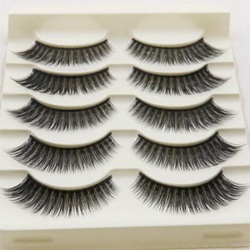 5 Pairs Natural Soft 3D False Eyelashes Long Thick Lashes for Women Gril Lady