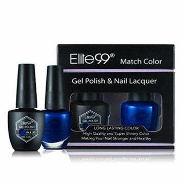 Elite99 Nail Art Set of 2PCS Gel Polish & Nail Lacquer with Beautiful Gift Box Mutil Colour Shiny Fashion Long-lasting Manicure Soak-off 10ML 1520-My Sugar Baby