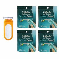 Compatible Razor fits with Sensor Excel for Women Refill Cartridges + Womens Sensor Excel 10 Ct. (4 Pack)