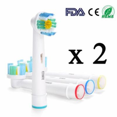 8pcs Fitnate Electric Toothbrush Replacement Heads for Oral B PRO Bright Braun Generic 3D White