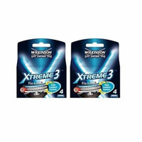 Wilkinson Sword Xtreme3, 4 Count Refill Razor Blades (Pack of 2) + Old Spice Deadlock Spiking Glue, Travel Size, .84 Oz
