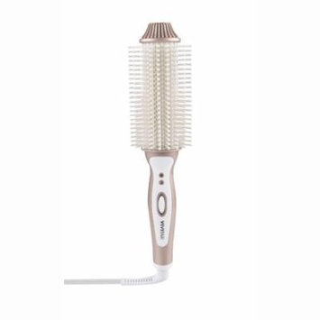 Vivitar Ceramic Hair Curling/Straightening Brush, Rose Gold