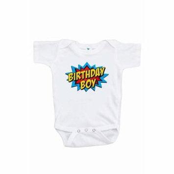 7 ate 9 Apparel Boy's Super Hero Birthday Onepiece - 0-3 Month Onepiece