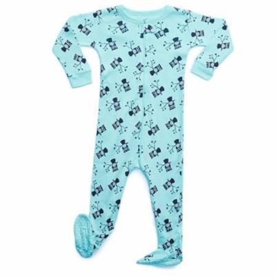 Leveret Owl Footed Pajama Sleeper 100% Cotton 12-18 Months