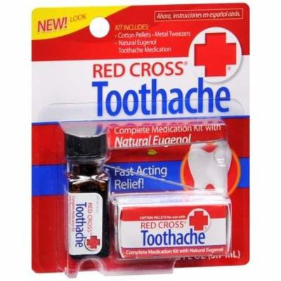 Red Cross Toothache Complete Medication Kit 0.12 fl oz(pack of 3)