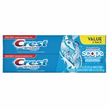Crest Complete Multi-Benefit Whitening + Scope Toothpaste Twin Pack Cool Peppermint 1.0 ea(pack of 1)