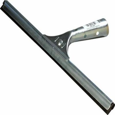 Carlisle 4007100 Rubber Professional Single-Blade Window Squeegee with Zinc-Plated Steel Frame, 16