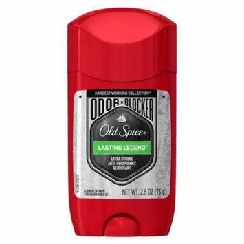 Old Spice Hardest Working Collection Odor Blocker Anti-Perspirant & Deodorant Lasting Legend 2.6 oz.(pack of 3)