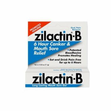 -B Oral Pain Reliever, Long Lasting Mouth Sore Gel 0.25 oz (Pack of 2), Eat and drink pain-free for up to 6 hours By Zilactin