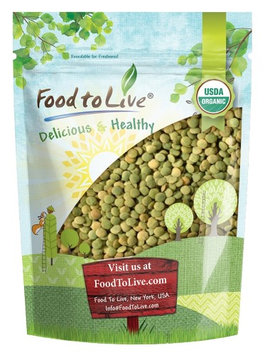 Organic Green Lentils by Food to Live (Whole Dry Beans, Non-GMO, Raw, Sproutable, Bulk) - 3 Pounds