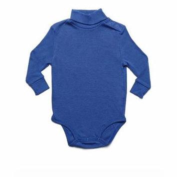Leveret Solid Turtleneck Bodysuit 100% Cotton (18 Months, Royal Blue)