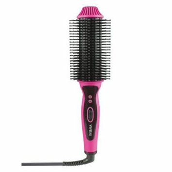 Vivitar Ceramic Hair Curling/Straightening Brush, Pink