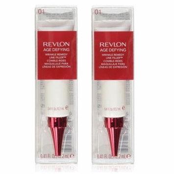 Revlon Age Defying Wrinkle Remedy Line Filler, 0.41 Oz (Pack of 2) + 3 Count Eyebrow Trimmer