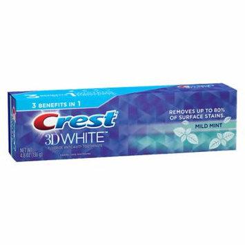 Crest 3D White Toothpaste Mild Mint 4.8 oz.(pack of 6)