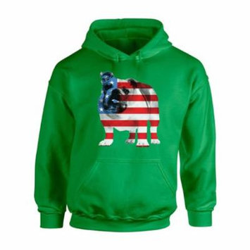 Awkward Styles Unisex USA Flag Bulldog American Patriotic Graphic Hoodie Tops 4th Of July Gifts