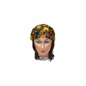 Floral Mult Embroidery Headbands / Head wrap / Yoga Headband / Head Sarf / Best Looking Head Band for Sports or Fashion, or Exercise (Black)