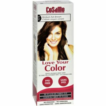 Love Your Color HG1577923 Hair Color Cosamo Non Permanent, Med Ash Brown - 1 Count