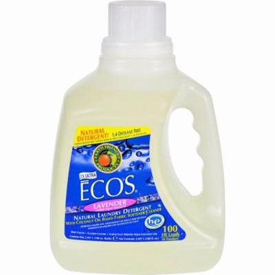 Earth Friendly Ecos Ultra 2x All Natural Laundry Detergent - Lavender - Pack of 4 - 100 Fl Oz
