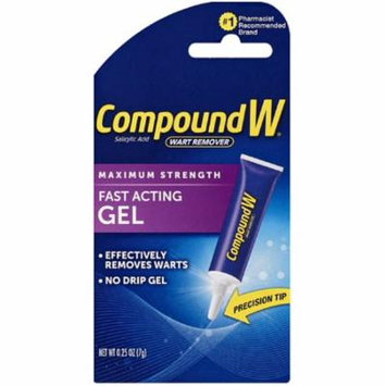 6 Pack - Compound W Maximum Strength, Fast-Acting Gel 0.25 oz