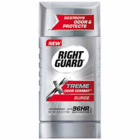 Right Guard Xtreme Odor Combat Antiperspirant & Deodorant Invisible Solid Surge 2.6 oz.(pack of 4)