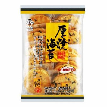 Want Want Japanese Seaweed Rice Crackers, 150 Gm