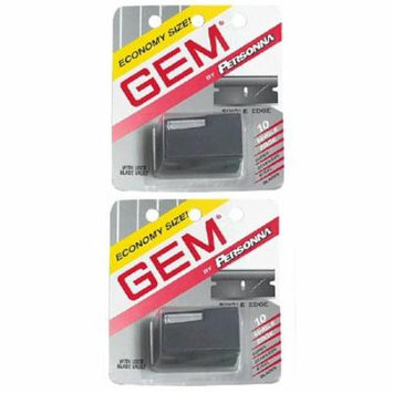 Personna Gem Super Stainless Steel Refill Blades, 10 ct. (Pack of 2) + Schick Slim Twin ST for Sensitive Skin