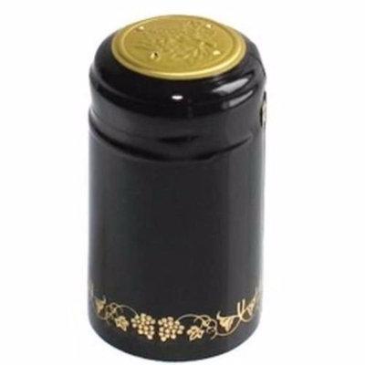 GoDeire(TM) 1 X Black/Gold Grapes PVC Shrink Capsules for Wine Making - 30 pe...
