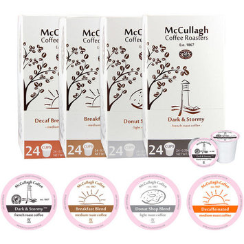 McCullagh Coffee Roasters Single Serve Variety Pack Coffee Cups, 96 count