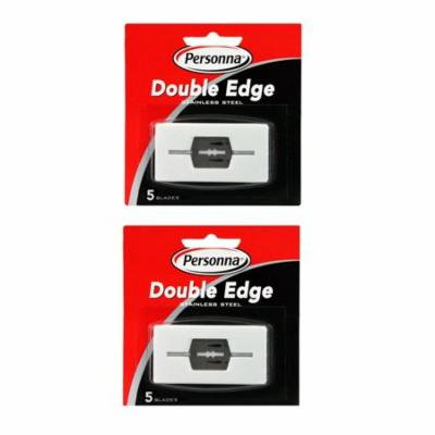 Personna Double Edge Blades Stainless Steel Refill Blades, 5 ct. (Pack of 2) + Schick Slim Twin ST for Dry Skin