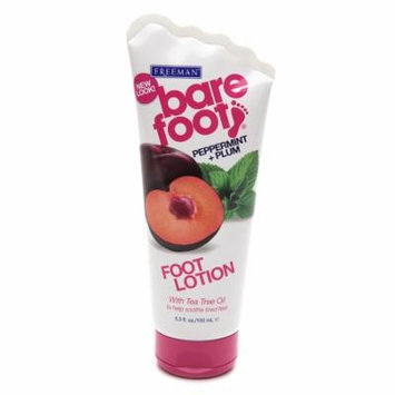 Freeman Bare Foot Softening Foot Lotion Invigorating Peppermint & Plum 5.3 oz.(pack of 4)